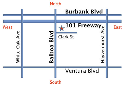 Map for 5359 Balboa Blvd, Encino